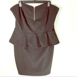 Charlotte Russe Front Zip Mini Dress Size L